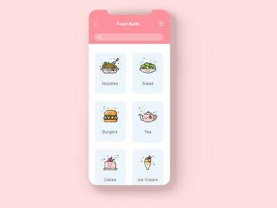 DailyUI 099 - Categories mbe food and drink food app search tag food food bank category page categories 099 interaction design mobile ui design ui design ux design mobile app daily 100 challenge dailyuichallenge uxui dailyui