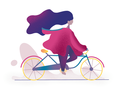 Bicycling Girl Illustration bicycling bicycle ui design uxui ui ux illustration art girl illustration girl illustration illustrator