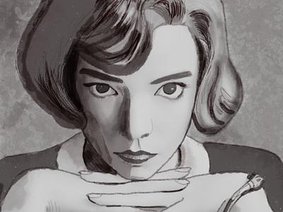 Queen s Gambit sketch ui design procreate sketch