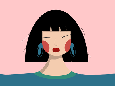 Lady in Teal interaction design procreate ui illustration ui design uxui dailyui