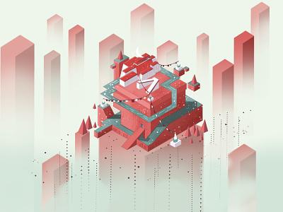Illustration - The Potala Palace design dailyui building illustration art illustraion illustrator
