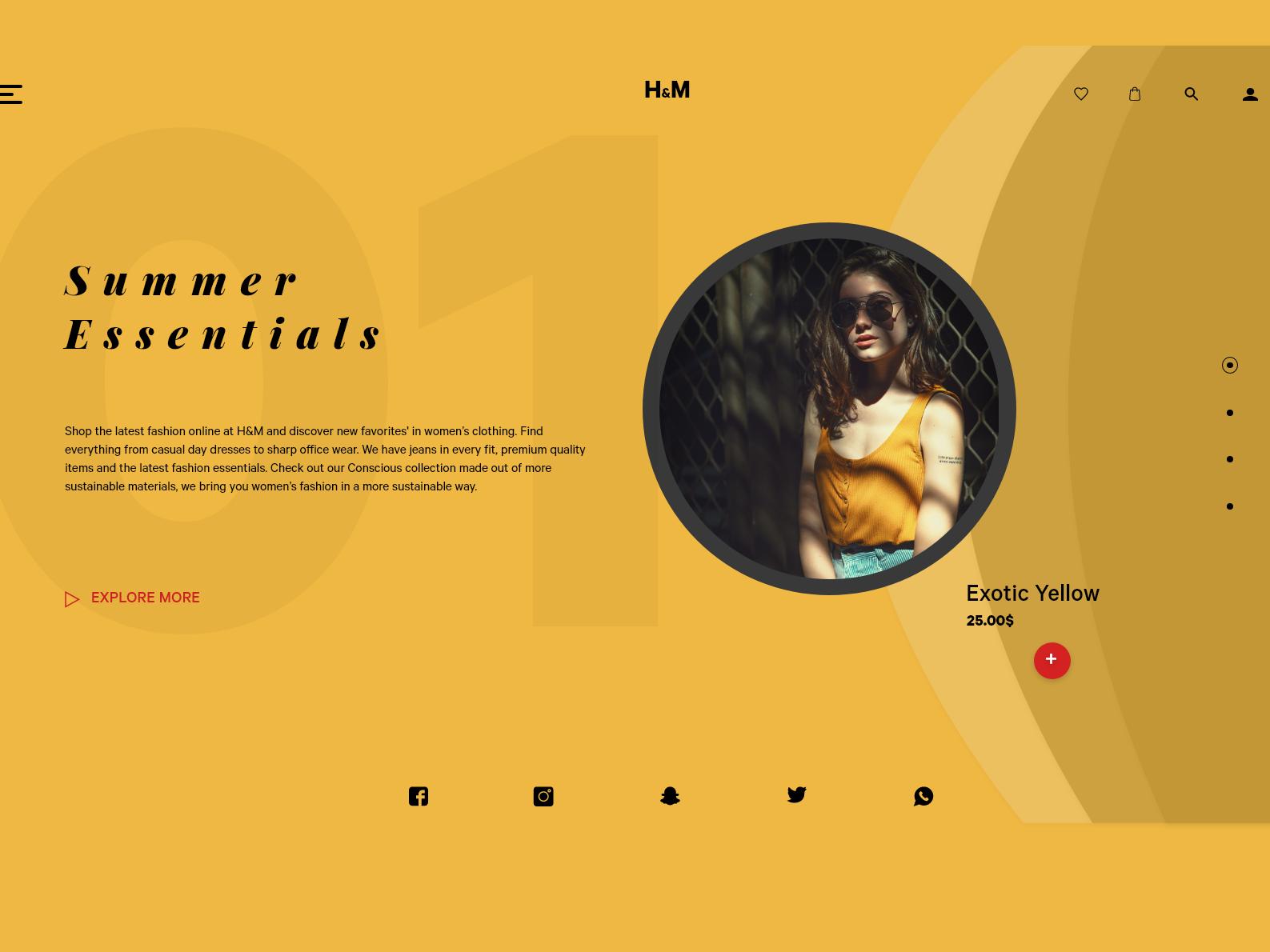 Fashion Website fashion web product design adobe xd adobe illustrator interaction design