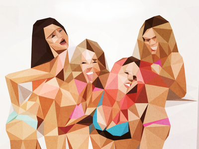Spring Breakers mesh experiment lab cocobongo generative-art triangles