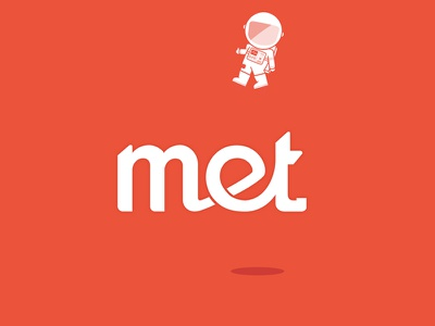 Met Logo logo vector astronaut illustration typography