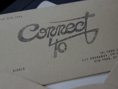 Connect 40 Invitation typography handlettering