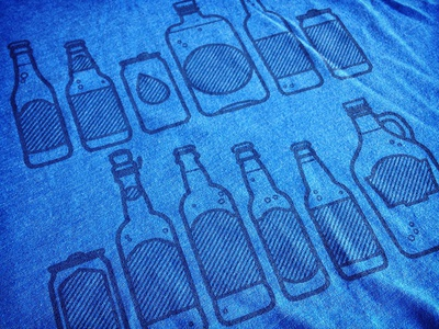 Beer Shirts thicklines vector illustration beer
