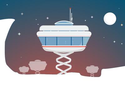 Met Colony  space lunar illustration