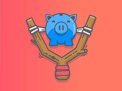 Payment sent! payments piggy bank icon illustration