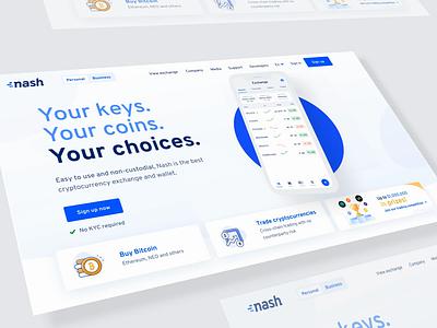 Nash.io website animation gif iphone app ui