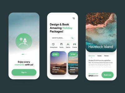 Holiday Packages - Mobile App uiux minimal ios holiday nature india tourism vacation iphone design app design clean mobile travel agency holiday package holidays traveling app traveling app