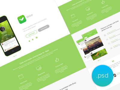 App Landing Page - freebie