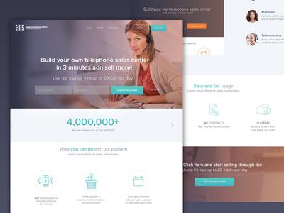 telemarketing365 Landing Page design