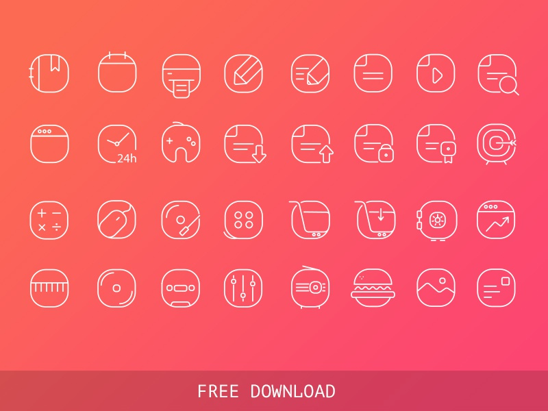 Free Vector Iine Icons icons free vector ai line icons