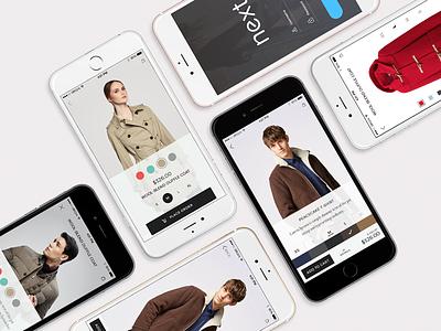 Product Details fashion e-commerce shop inteaction mobile ui-kit ui iphone ios ux