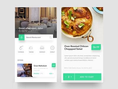 Restaurant App search recipe profile order offer ios icon filter card food app restaurant