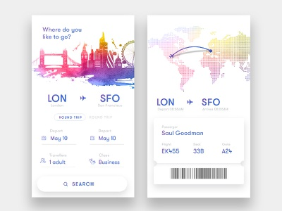 Flight Booking App search ticket design material ux ui fly ios android airport flight booking