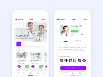 Find Doctor Mobile App find doctor mobile location health clinic chat android ios ux ui search doctor