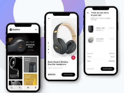 iPhone X - Ecommerce iphone x ux ui interaction design app shopping iphone ecommerce checkout cart buy
