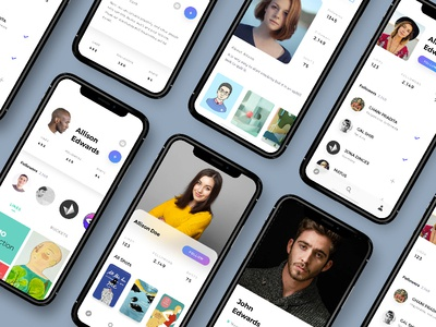 iPhone X - Profile screen profile  screen ui photo mobile minimal light iphonex ios11 app