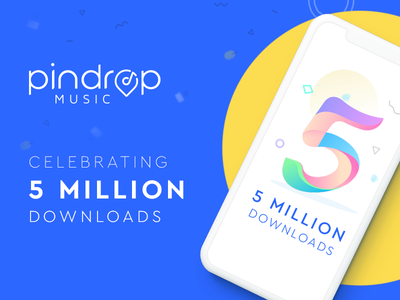 Celebrating Five Millions Downloads app android iphone ux ui celebrating music 5millionusers downloads
