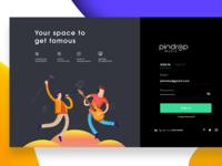 Pindrop Music Artist Landing page