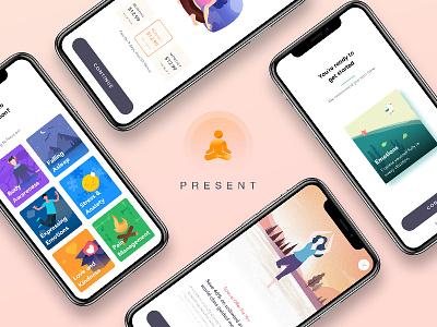 Meditation APP timer rest pricing plan meditate illustration agency ui design ux design iphone x mobile app design interface meditation ios 11