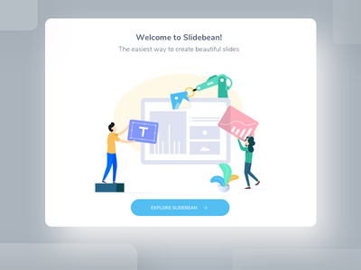 Slidebean App Illustration design illustration website iphone clean ios ux app ui