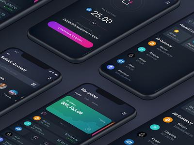 Crypto Wallet App gif design animation app iphone ui ios crypto wallet crypto