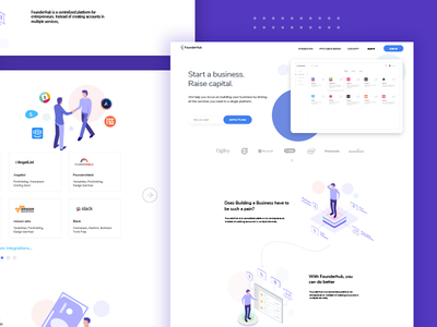 founderhub.io-  Landing page : landing page illustration mobile icon animation clean ios app iphone ux ui