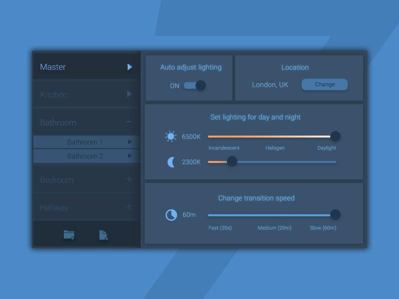 Settings Page - Daily UI #7 dailyui control panel design interface settings ui