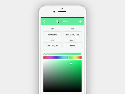 Color Picker - Daily UI #60 dailyui interface picker color