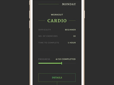 Workout of the Day - Daily UI #062 workout of the day dailyui interface list
