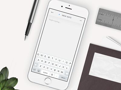 Notes Widget - Daily UI #65 dailyui input text interface widget notes