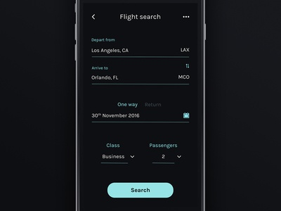 Flight Search - Daily UI #68