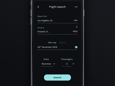 Flight Search - Daily UI #68 dailyui custom search flight