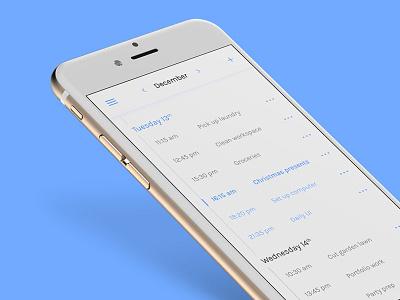 Schedule - Daily UI #71 dailyui todo calendar date plan list schedule