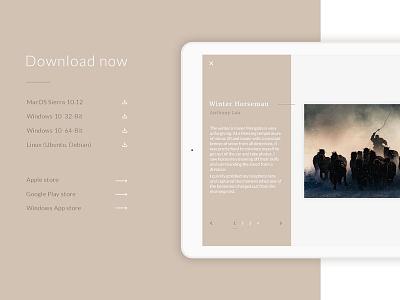 Download App - Daily UI #74 dailyui external link list app download