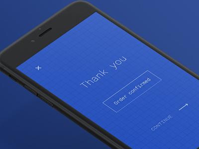 Thank You - Daily UI #77 splash dailyui interface confirmation you thank