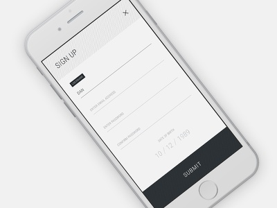 Form - Daily UI #82 dailyui interface input submit account details info fill contact up sign form
