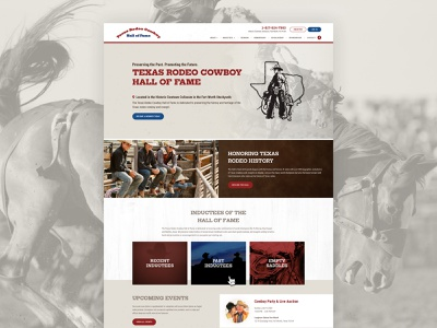 Texas Rodeo Cowboy Hall of Fame web design