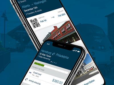 Amtrak Mobile Rider App amtrak train app design uidesign