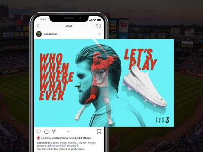 Under Armour Bryce Harber 3 Cleat Instagram Campaign