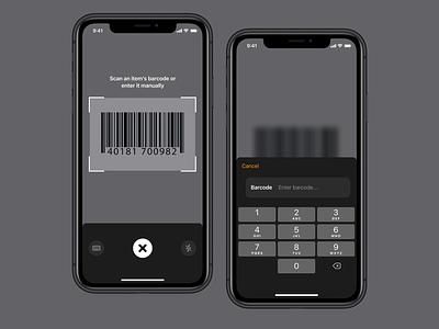 Food Scanner search food macros diet user interface scanner mobile ui