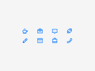Tiny Onboarding Icons ios retina icon design icons user interface