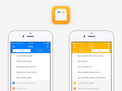 Shyft To-Do List & Task Manager icons list user interface app ios tasks to-do list shyft