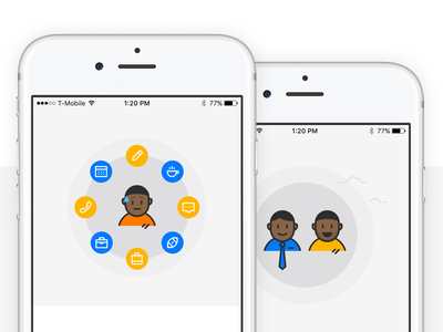 Character Illustrations shyft characters onboarding ios app illustration