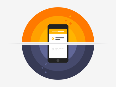 Rise and Shine sunrise colorful shyft onboarding ios app illustration