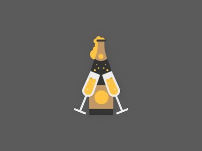 Cheers bottle champagne snapchat filter illustration