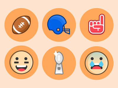 Football Stickers emojis sports football icons stickers imessage