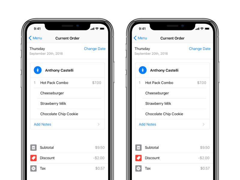 Cart checkout process icons totals order food cart checkout buttons app ui ios
